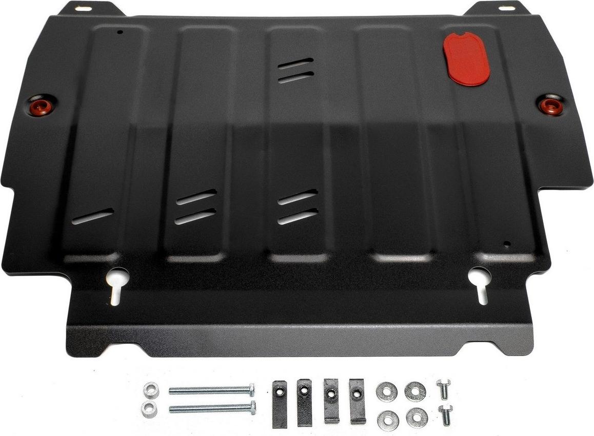 Защита картера и КПП Автоброня для Infiniti JX35 2012-2013/QX60 2013-2016 2016-н.в./Nissan Murano 2016-н.в./Pathfinder 2014-2017, сталь 2 мм, с крепежом. 111.02415.2 2013 2014 infiniti jx35 jx qx60 alloy engine skid plate engine protection plate