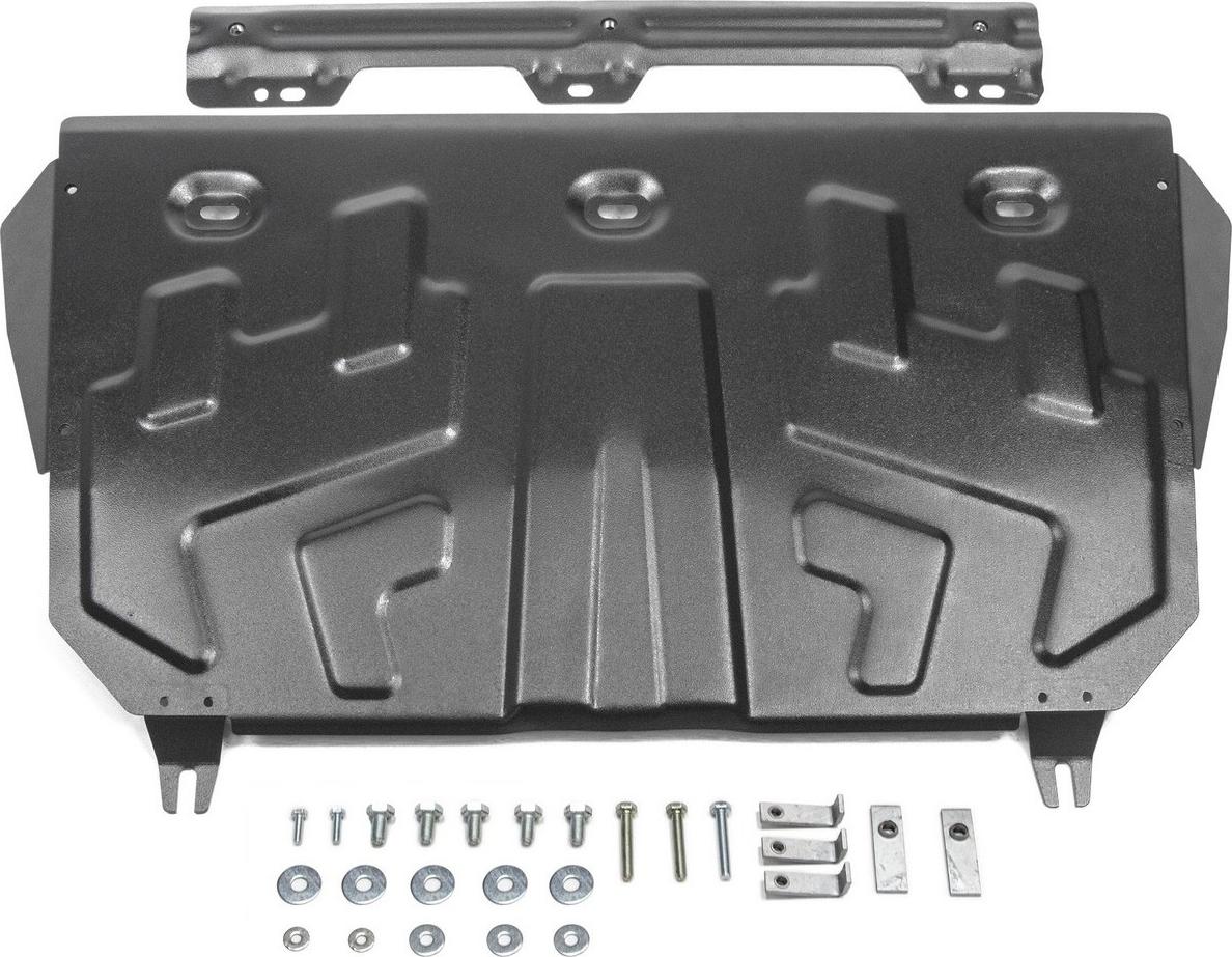 Защита картера и КПП Автоброня для Mazda 3 2013-н.в./6 2012-2015 2015-н.в./CX-5 2011-2015 2015-2017 2017-н.в./CX-9 2017-н.в., сталь 2 мм, с крепежом. 111.03823.1 blue fuel injector nozzle l3k9 13 250 for 2006 2013 mazda 3 6 cx 7 2 3l l3k913250