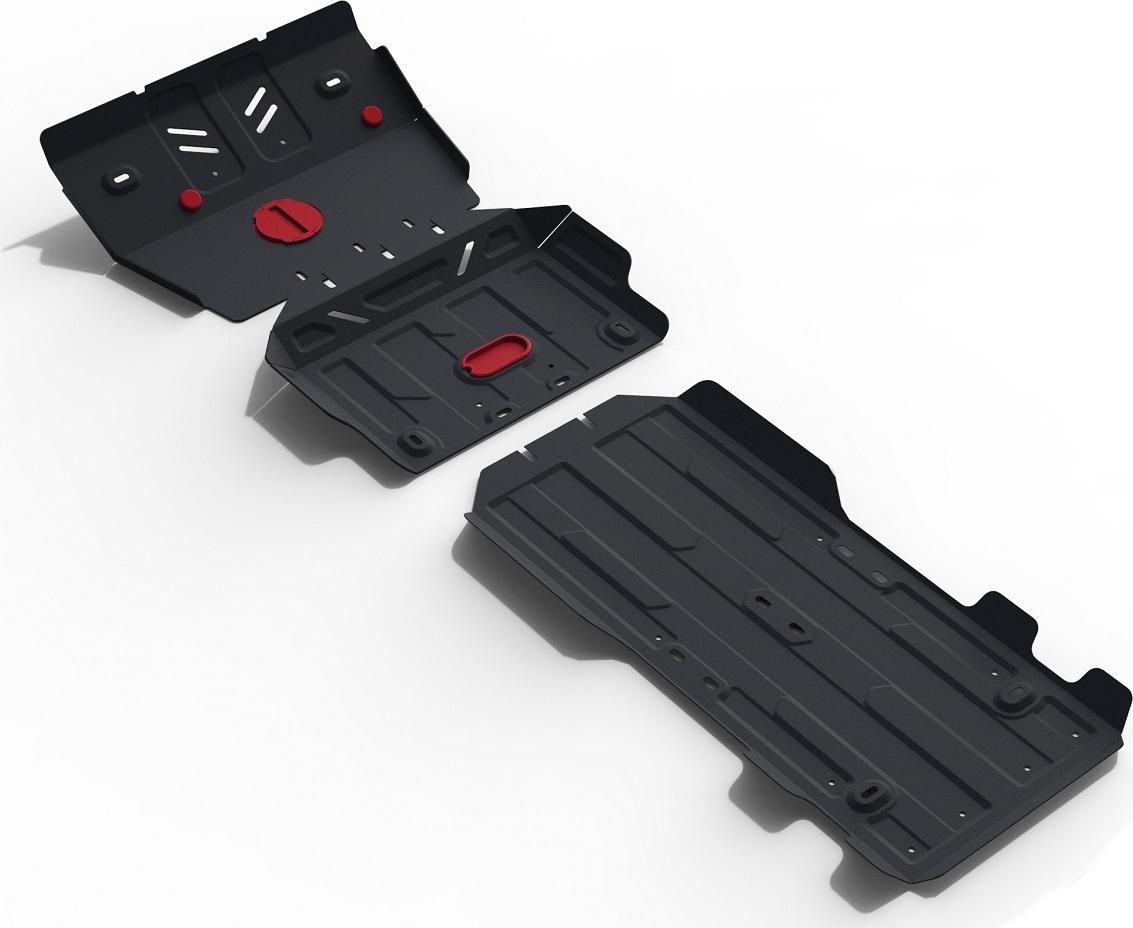 Защита радиатора, картера, КПП и РК Автоброня для Lexus GX 460 2009-2013 2013-н.в./Toyota Land Cruiser 150 Prado 2009-2013 2013-2017 2017-н.в., сталь 2 мм, с крепежом. K111.09516.1 защита радиатора картера кпп и рк rival для lexus gx 460 2009 2013 сталь 2 мм