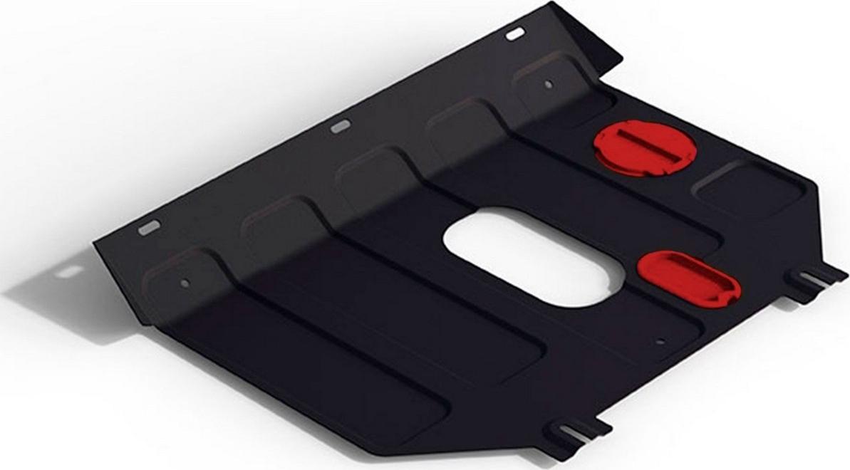 Защита картера и КПП Автоброня для Zotye T600 2016-н.в., сталь 2 мм, с крепежом. 111.09703.1 защита картера и кпп стальная автоброня для zotye t600 2013 2018
