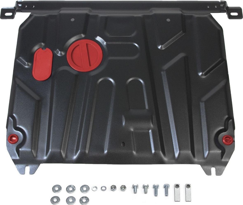 Защита картера и КПП Автоброня для Hyundai Solaris 2011-2016/Kia Rio 2011-2017, сталь 2 мм, с крепежом. 111.02343.1 защита картера и кпп автоброня для honda pilot 2012 2016 сталь 2 мм с крепежом 111 02127 1