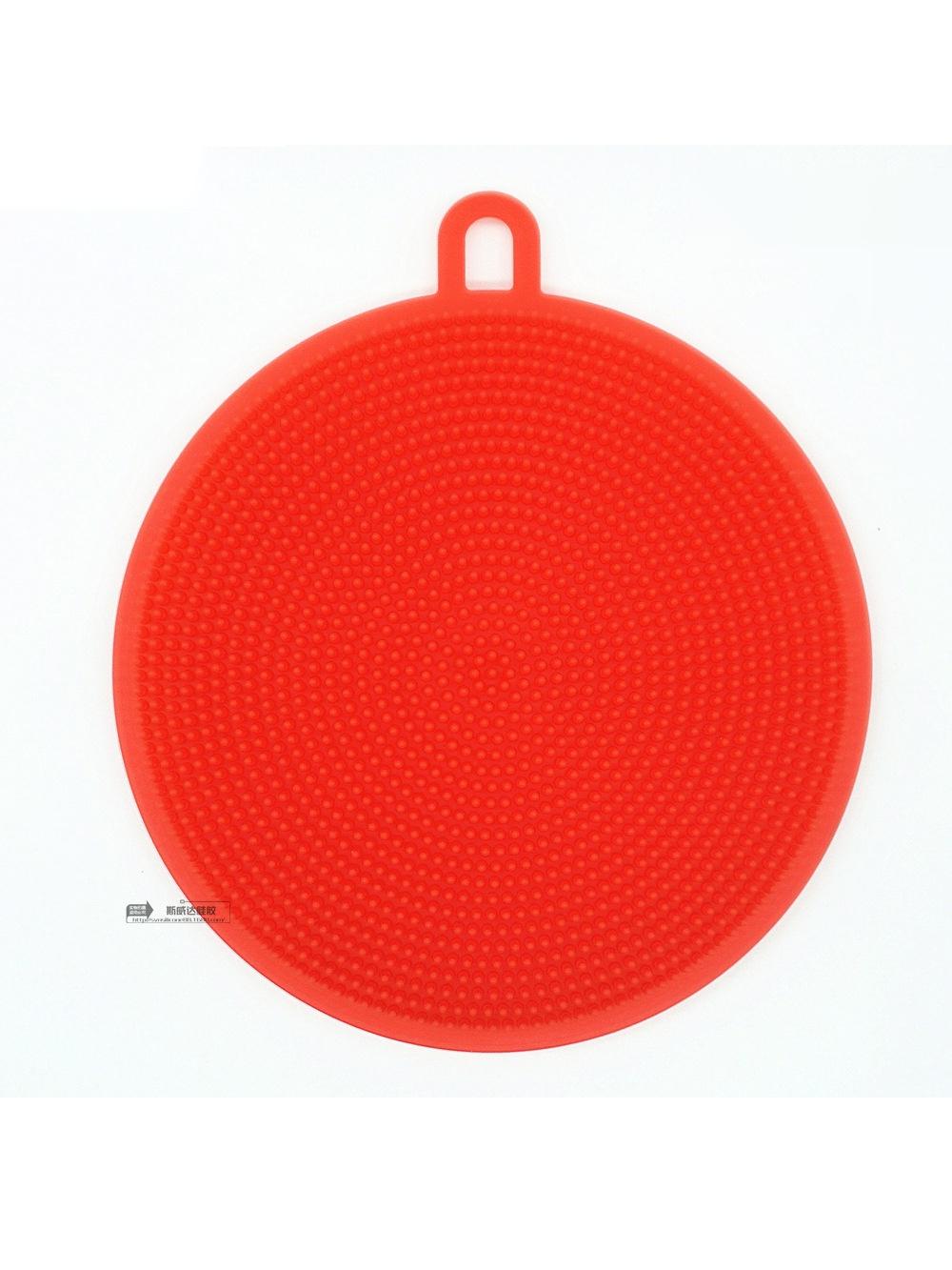 Губка силиконовая для мытья посуды, овощей, многофукнциональная щетка кухни (красн)