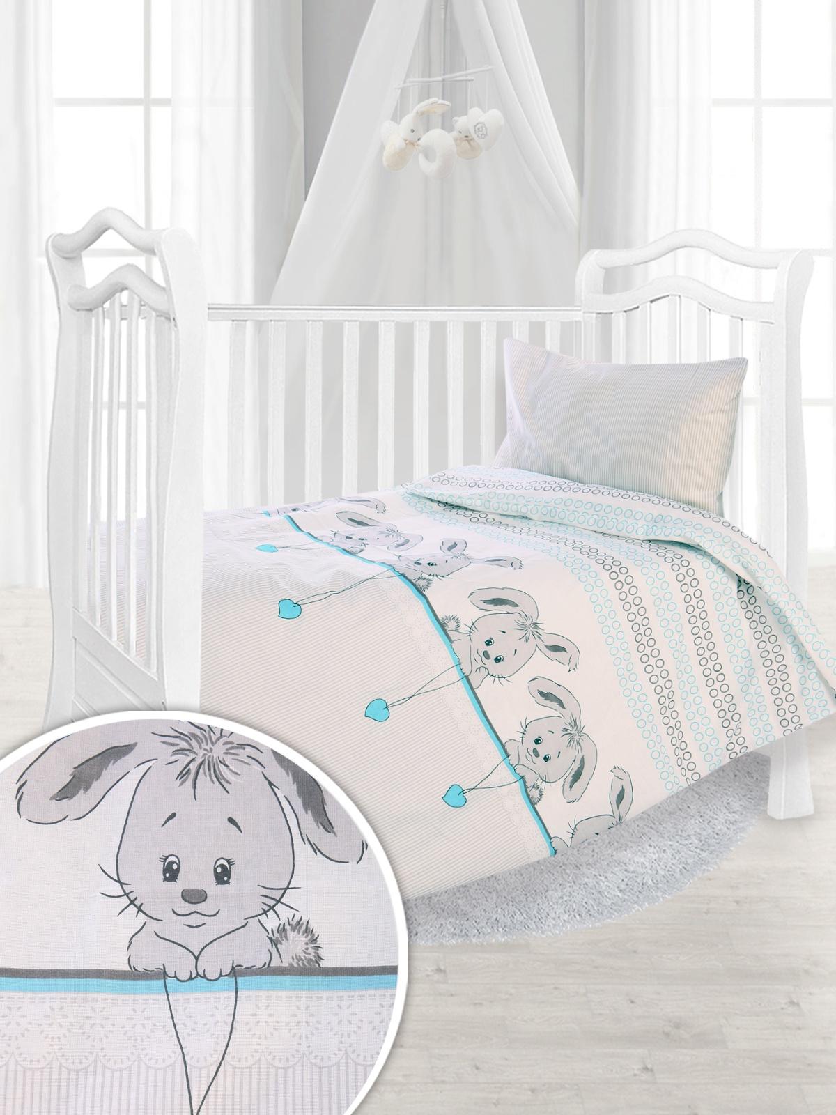 Комплект постельного белья в кроватку Зайчики