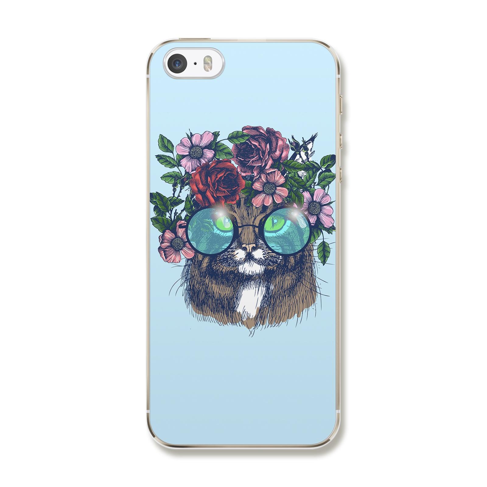 """Чехол для iPhone 5/5S/SE """"Кот в очках"""""""