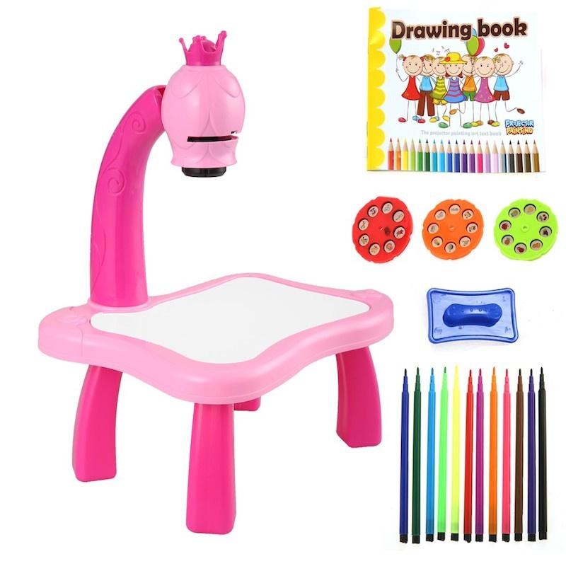 Набор для рисования MARKETHOT Детский проектор со столиком
