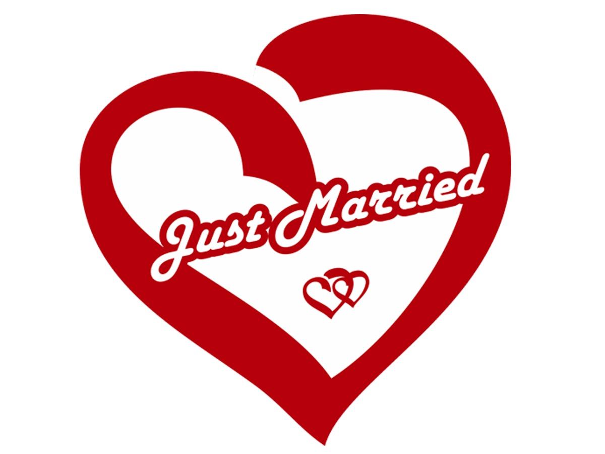 Магнит Простые Предметы свадебный декор на автомобиль Just Married - сердце