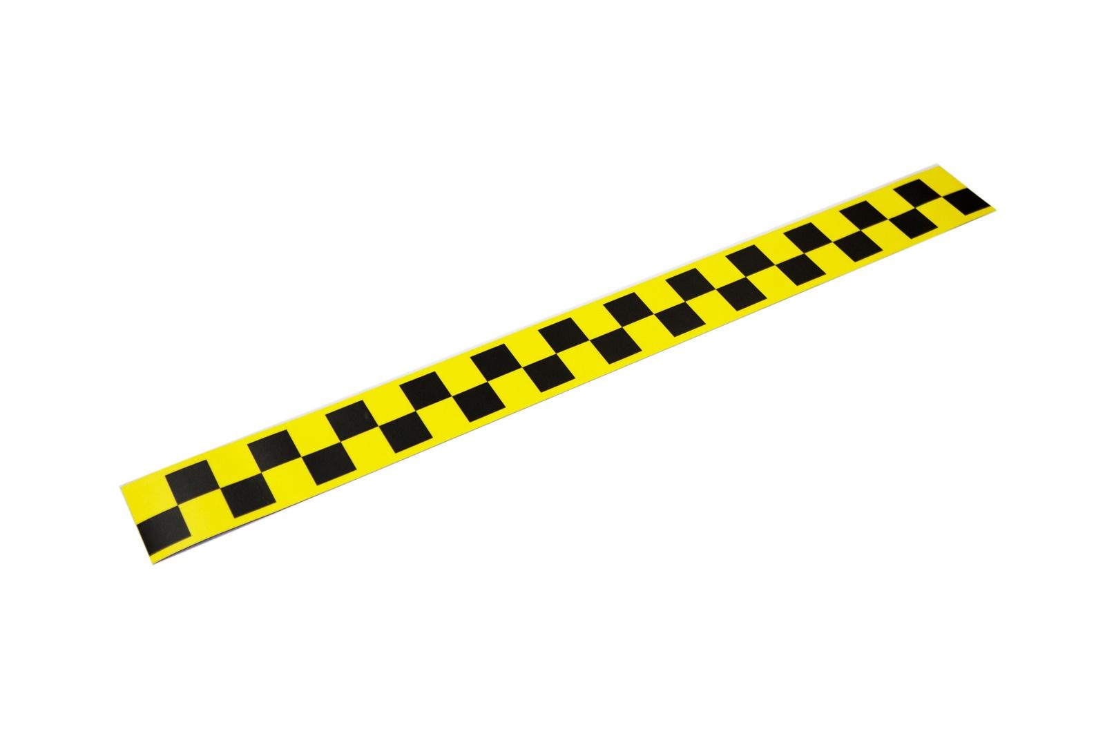 Магнит Простые Предметы такси дляпритяжения клиентов, 600х60, желтый