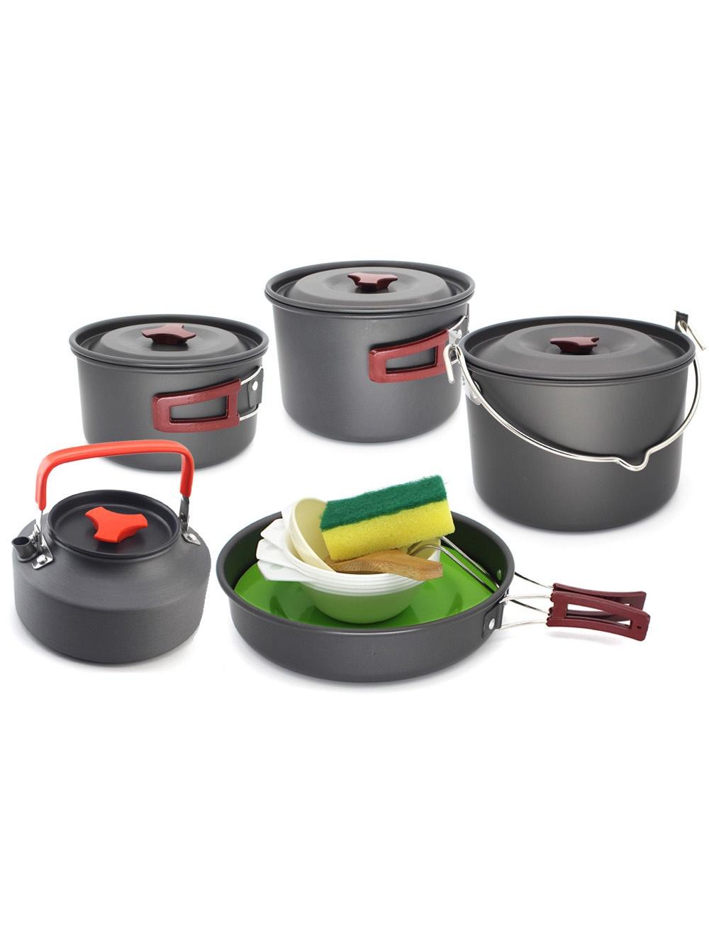 Туристический набор посуды для похода 12 предметов, компактный и легкий комплект походной посуды набор походной посуды tatonka picnic set 9 предметов