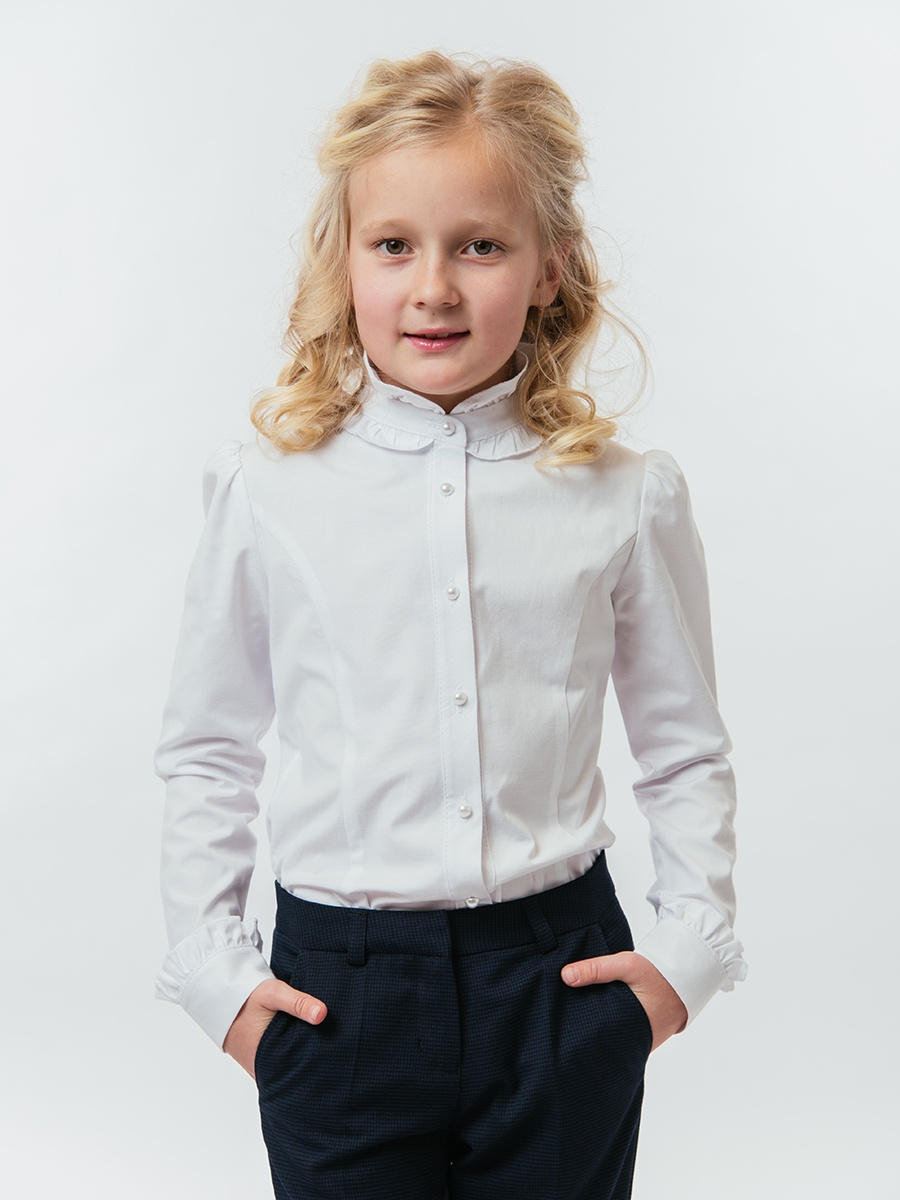 Блузка TForma/ReForma блузка для девочки nota bene цвет молочный 18123051117 размер 158