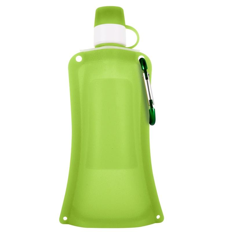 Силиконовая складная бутылка-мешок для воды на велосипед, спортивная бутылка для воды складная (зел.)