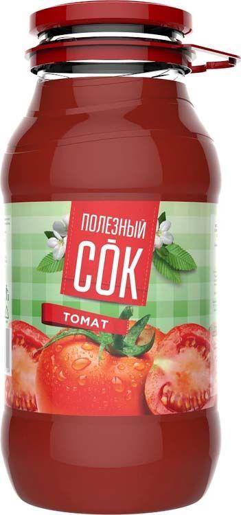 """Сок Полезный сок """"Томатный"""" с солью и мякотью, 1,8 л"""