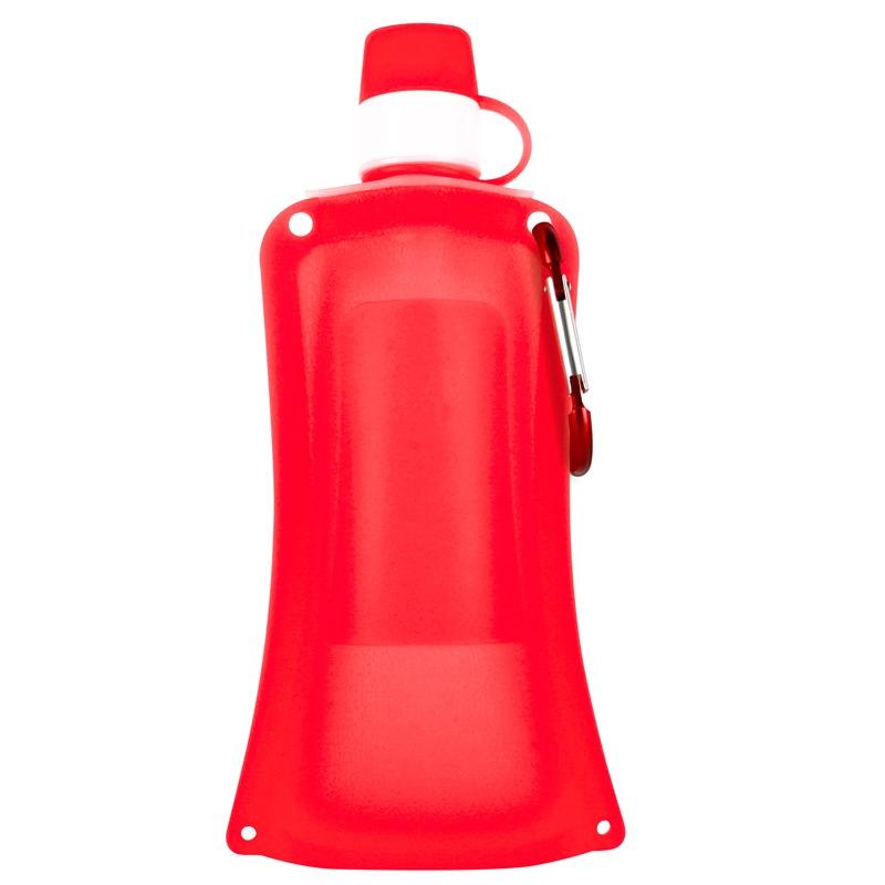 Силиконовая складная бутылка-мешок для воды на велосипед, спортивная бутылка для воды складная (красн.)