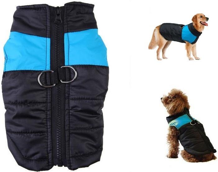 Водонепроницаемый жилет для маленьких, средних и крупных пород собак, цвет чёрно-голубой, размер 3хl, Fidget Go