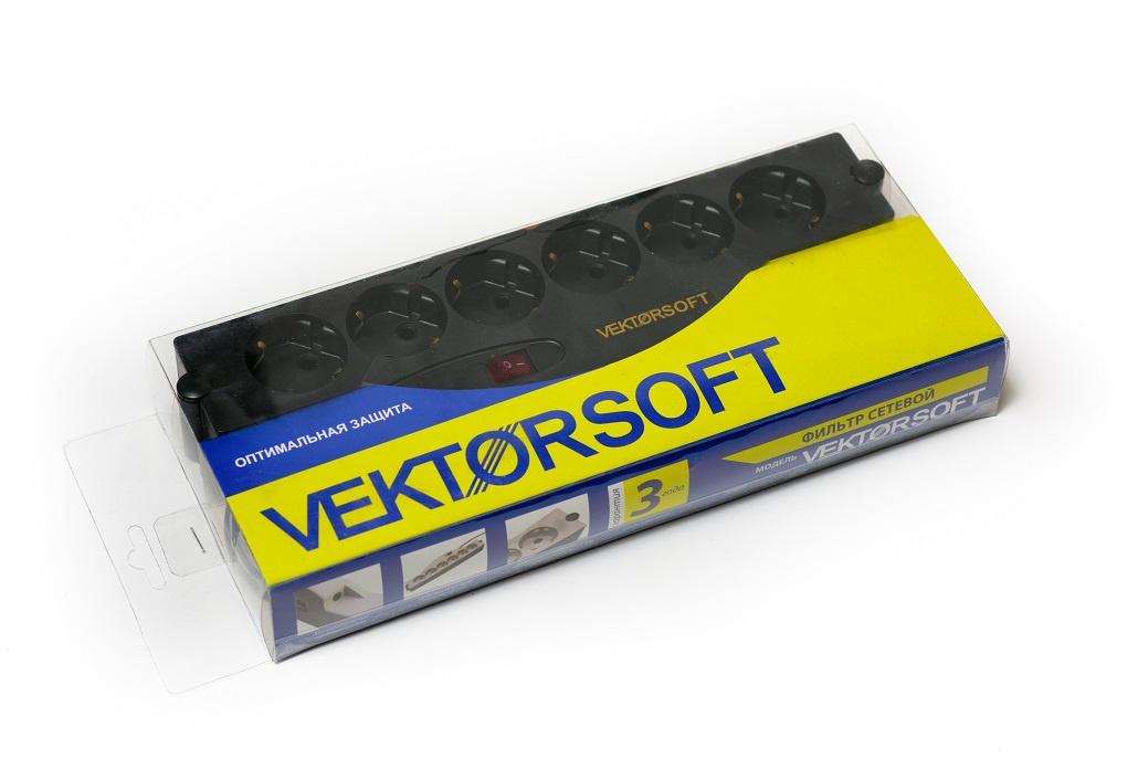 Сетевой фильтр VEKTOR Soft, 1,8 м, 6 розеток сушка для сувениров из стекла vektor ghb88a