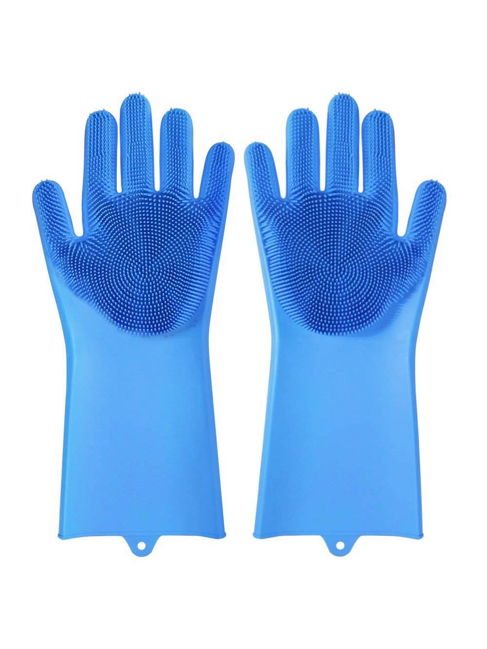 Многофункциональные перчатки силиконовые термостойкие для мытья посуды, перчатки-щетка для кухни щетки для кухни
