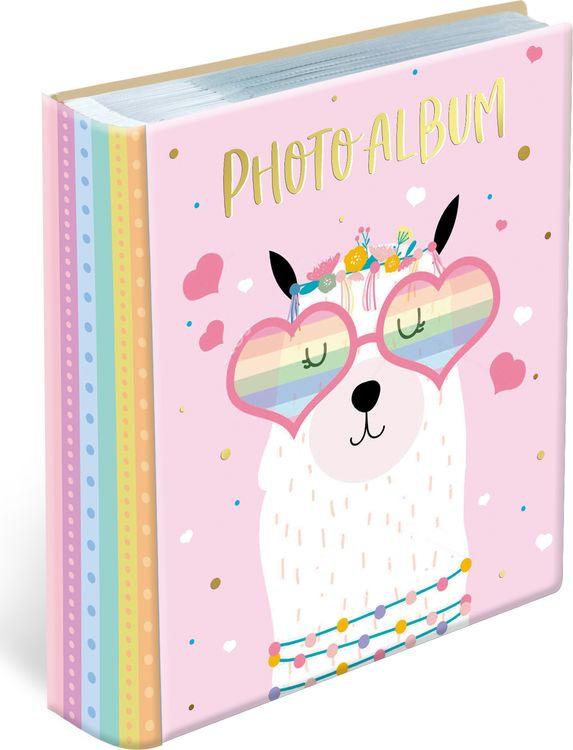 Фотоальбом магнитный Magic Home Лама, на гребне, 79687, розовый, 10 листов, 24 х 29 х 2,7 см фотоальбом magic home love 77722