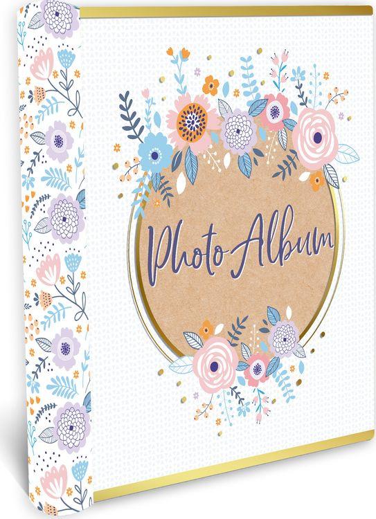 Фотоальбом магнитный Magic Home Полевые цветы, на гребне, 79690, белый, 20 листов, 24 х 29 х 2,7 см фотоальбом magic home love 77722