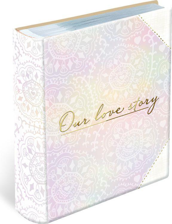 Фотоальбом магнитный Magic Home Love story, 79694, розовый, на кольцах, 50 листов, 23,5 х 28,5 х 6,3 см фотоальбом magic home love 77722