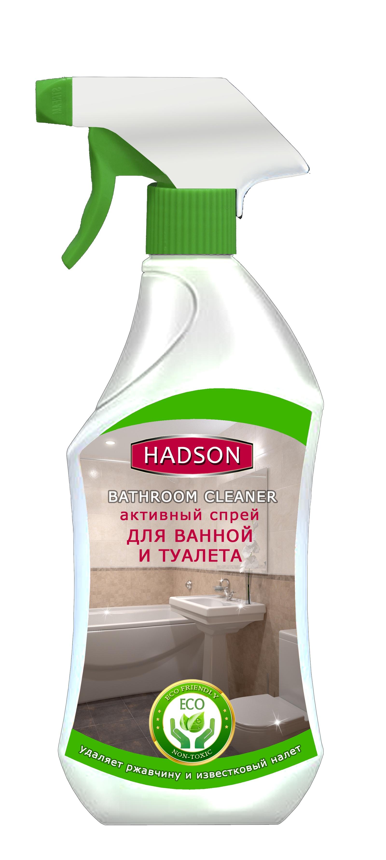 Средство для ванной и туалета HADSON ЭКО, 500 мл, Активный спрей nagara средство для очистки туалета 500 мл