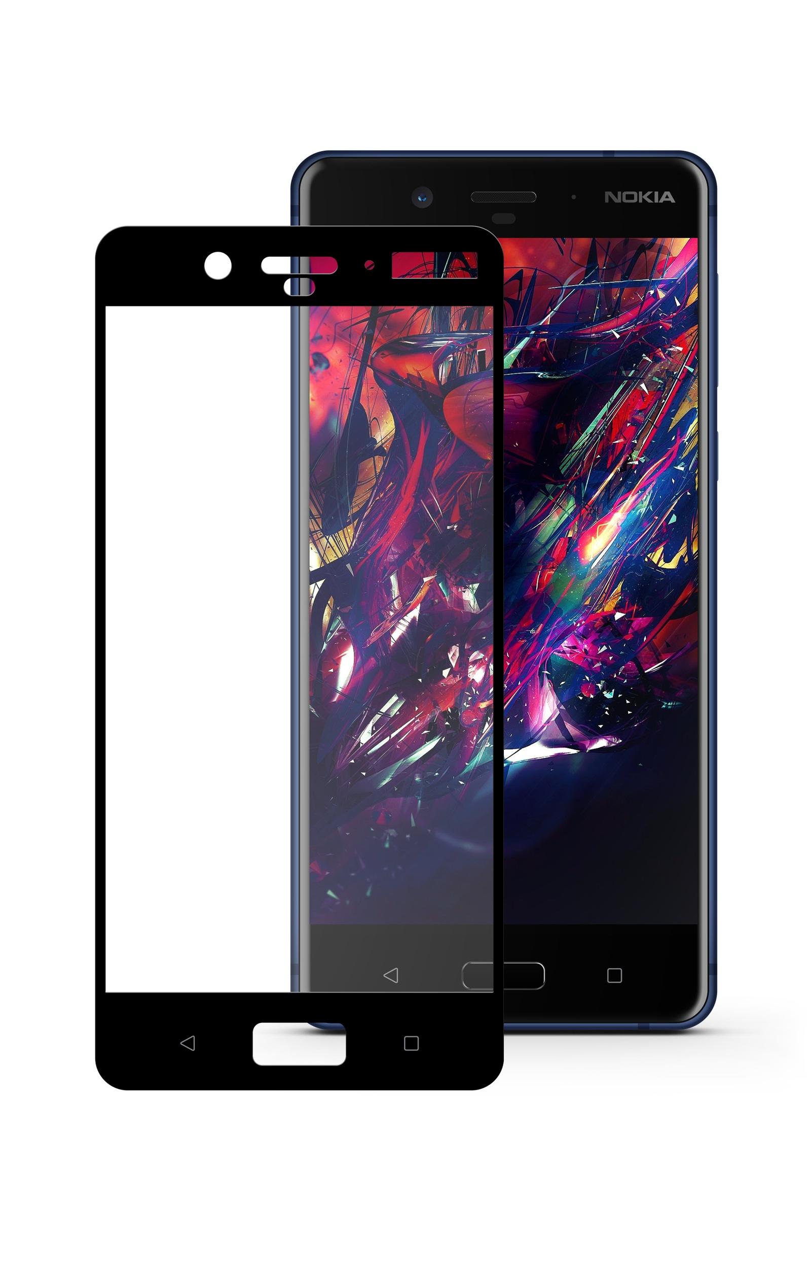 Защитное стекло Mobius Nokia 8, черный
