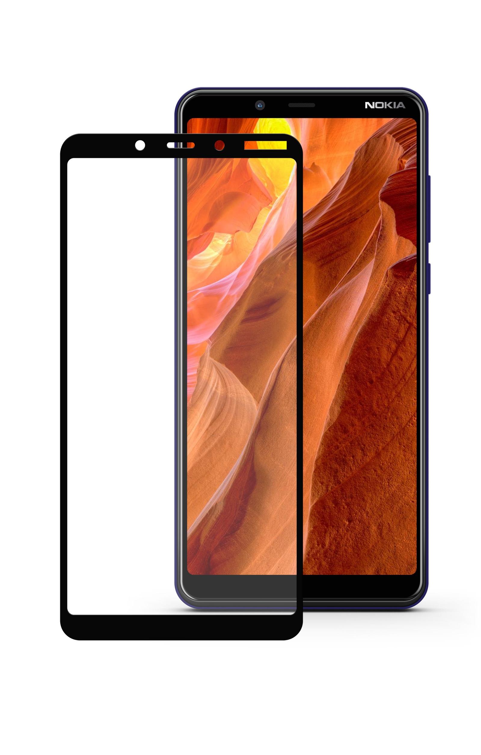 Защитное стекло Mobius Nokia 3.1 Plus, черный