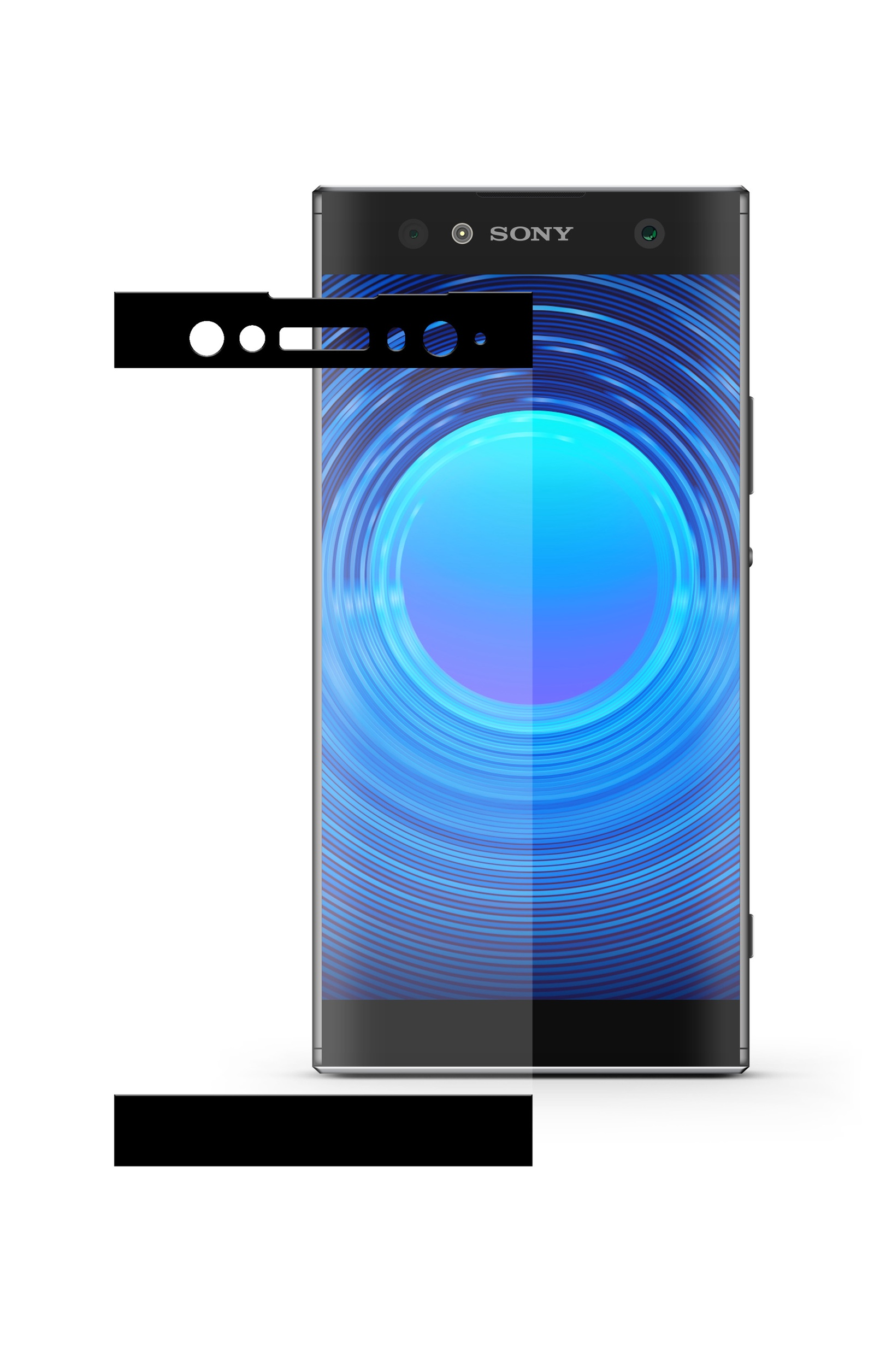 Защитное стекло Mobius Sony Xperia XA2 Ultra, черный