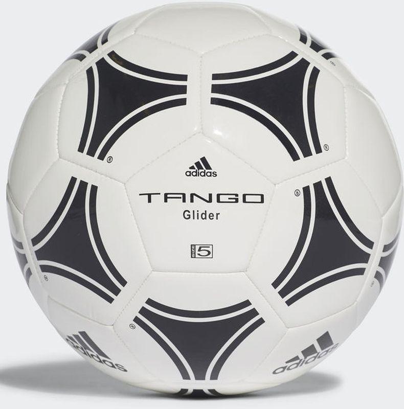 Мяч футбольный Adidas Tango Glider, S12241, белый, черный, размер 5