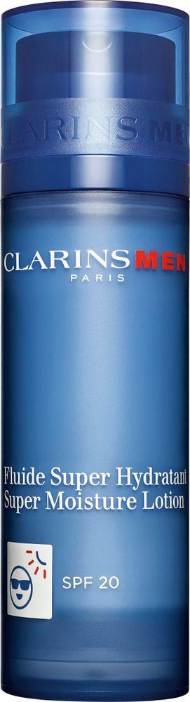 Лосьон для лица Clarins Men Fluide Super Hydratant, интенсивно увлажняющий, SPF 20, 50 мл