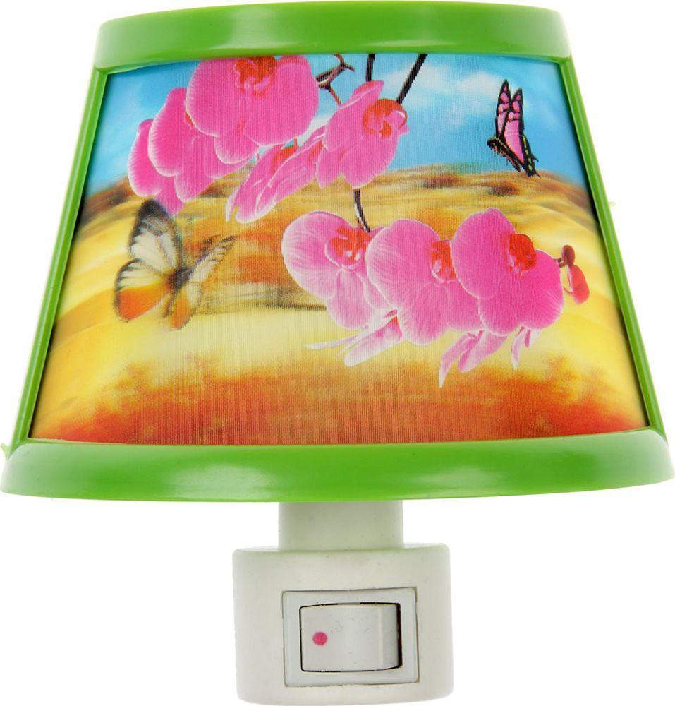 """Ночник Risalux """"Цветы 3D"""", 1009615, разноцветный, 15 х 12.5 х 8 см"""