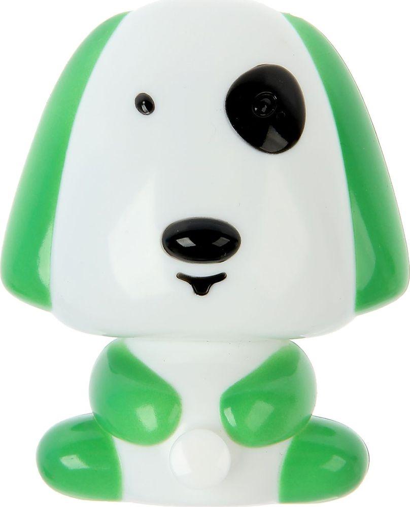 """Ночник Старт """"Собака"""", 1250552, зеленый, 10 х 8.5 х 8.8 см"""