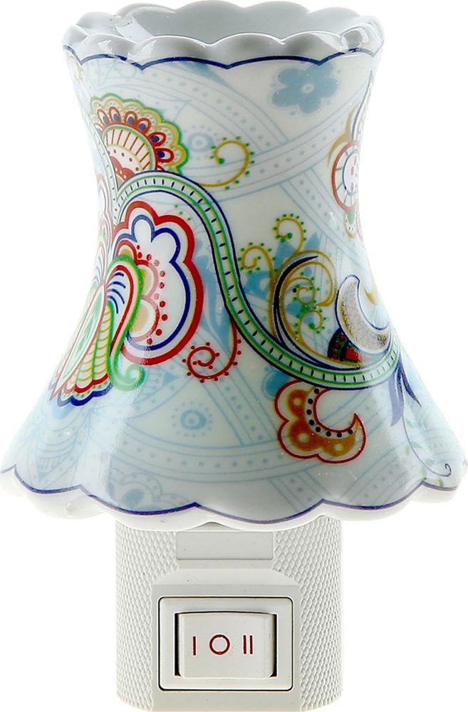 """Ночник Risalux """"Цветение сакуры"""", 838874, разноцветный, 9 х 7.5 см"""