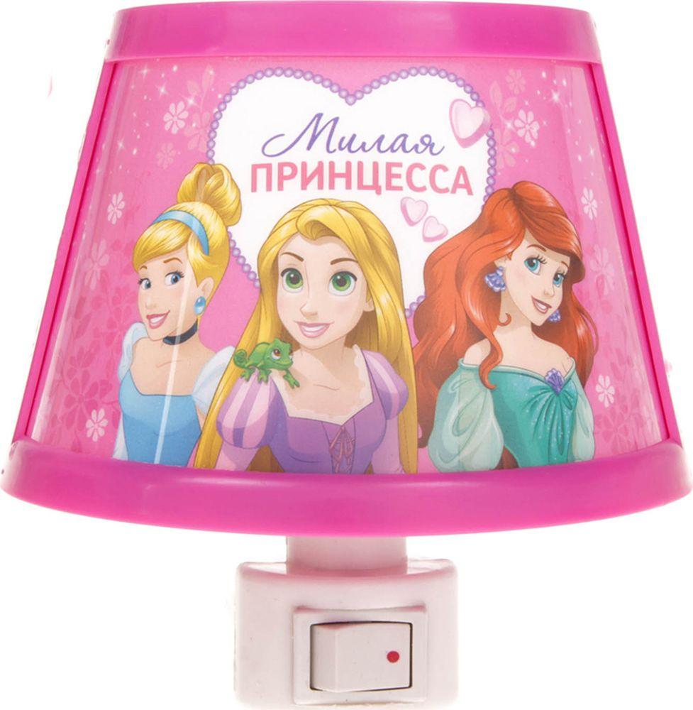 """Ночник Disney """"Милая принцесса"""", 2303516, розовый, 10 х 11 см"""