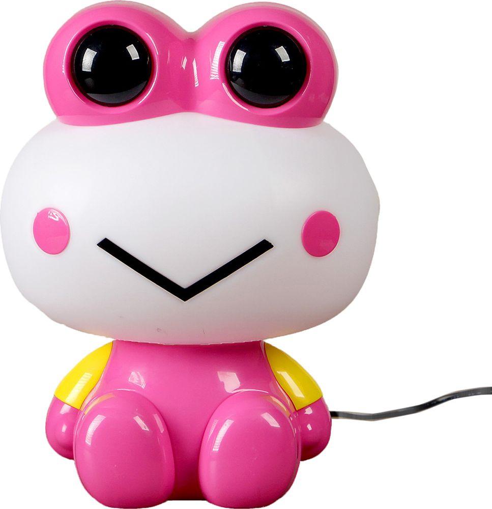 """Ночник Risalux """"Лягуха"""", 2802349, розовый, 25 х 19 х 12 см"""