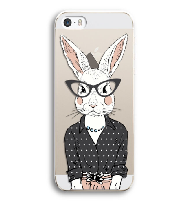 Чехол Hipsta Animals (Зайчиха) для iPhone 5/5S/SE цена
