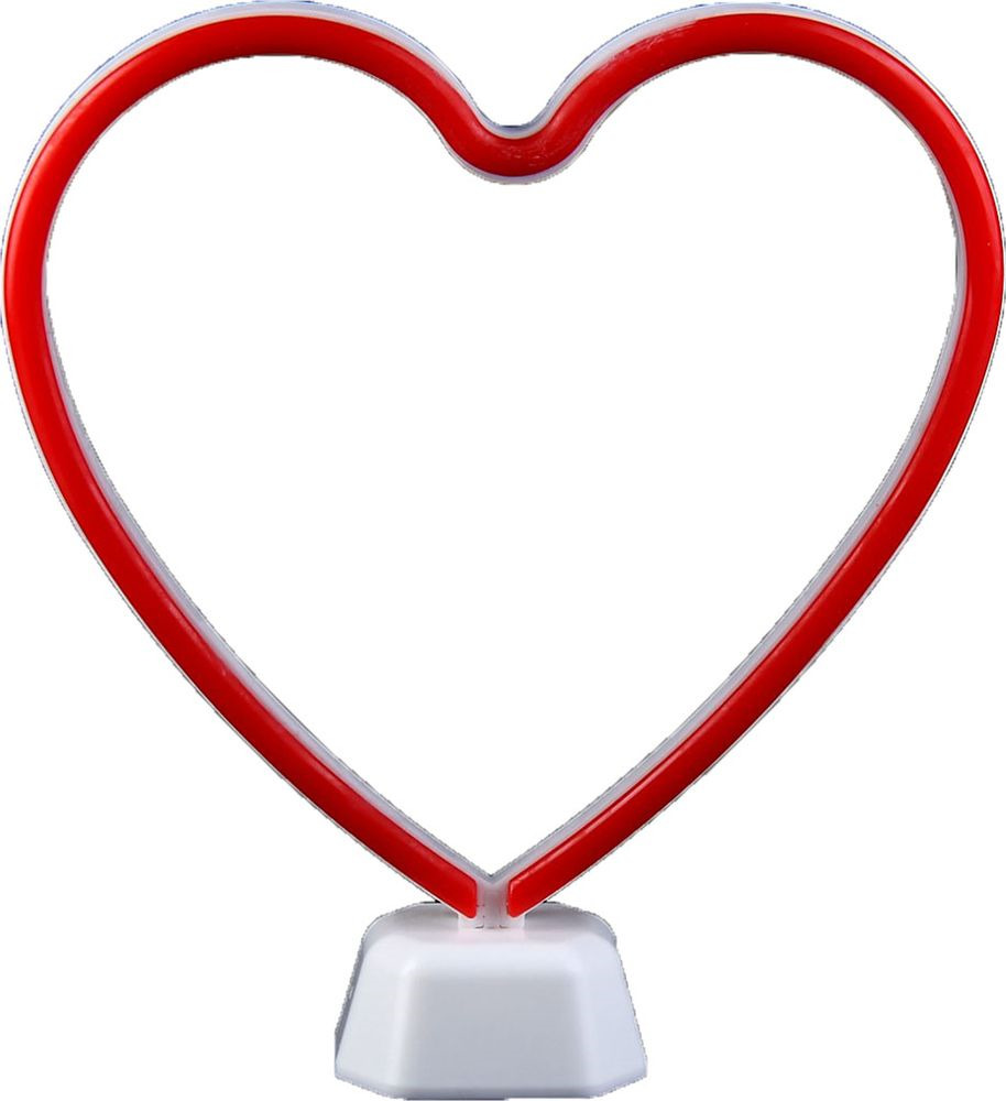 "Ночник Risalux ""Сердце"", 3483356, белый, красный, 26 х 7,1 х 27,5 см"