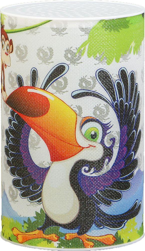 "Ночник Risalux ""Тукан и обезьяна"", 3746956, разноцветный, 7.1 х 7.1 х 11.3 см"