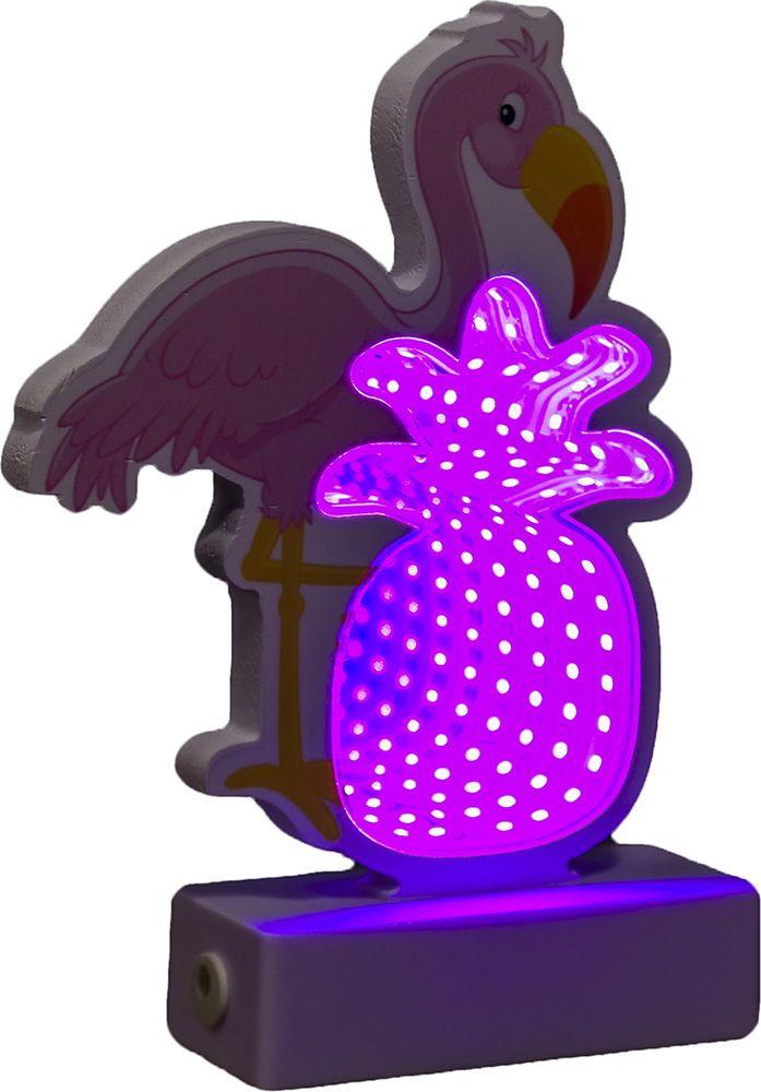 """Ночник Risalux """"Фламинго"""", 3877906, розовый, 19.5 х 13.5 х 4.5 см"""