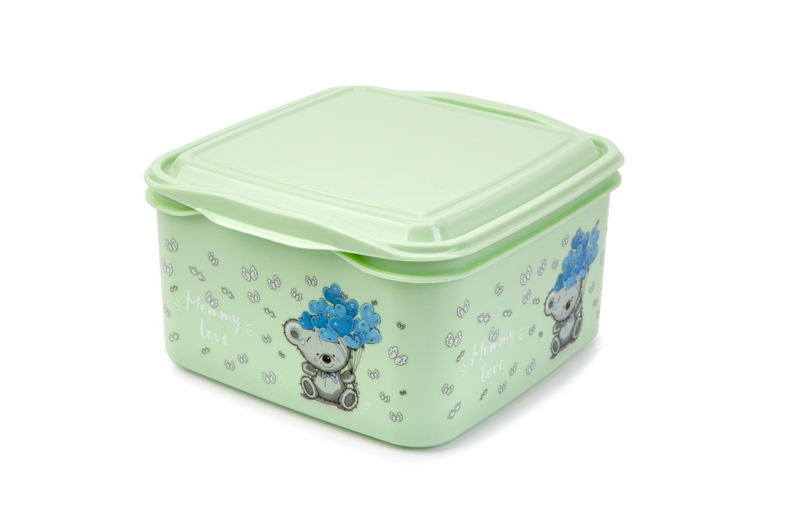 Контейнер пищевой Berossi Mommy Love, ИК 48862000, оливковый салатник berossi domino twist цвет снежно белый 0 7 л