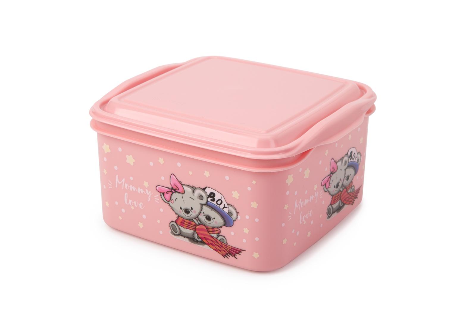 Контейнер пищевой Berossi Mommy Love, ИК 48863000, розовый салатник berossi domino twist цвет снежно белый 0 7 л