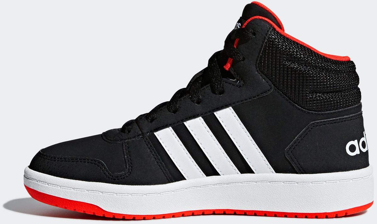 Кроссовки adidas Hoops Mid 2.0 K кроссовки детские adidas hoops mid 2 цвет черный b75743 размер 35 33