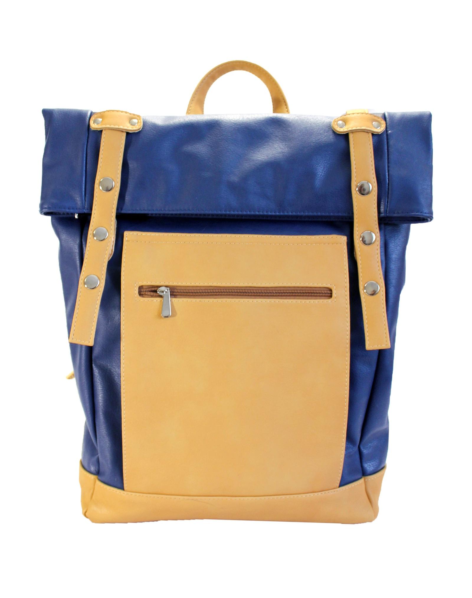 Рюкзак Chica Rica RollTop, светло-коричневый, синий рюкзак anteater rolltop acab