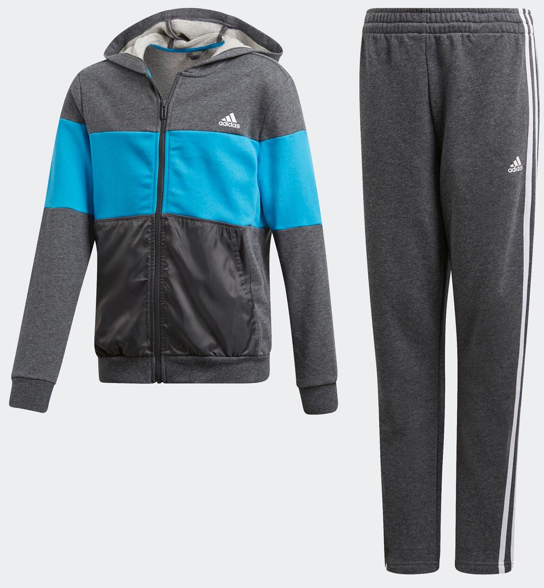 Спортивный костюм adidas спортивный костюм детский adidas i fun jog fl цвет черный серый ce9729 размер 104