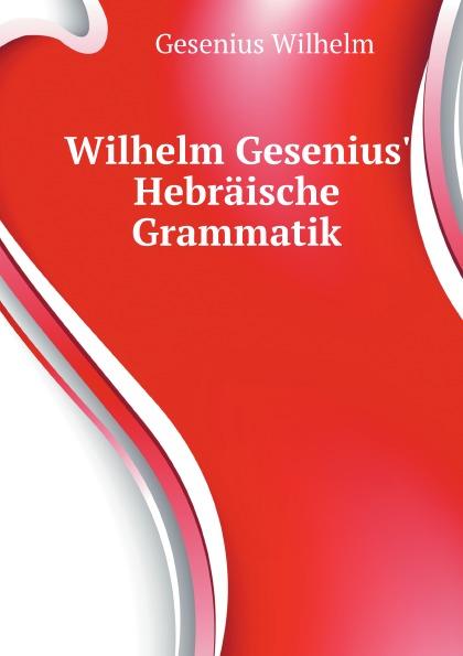 W. Gesenius Wilhelm Gesenius Hebraische Grammatik