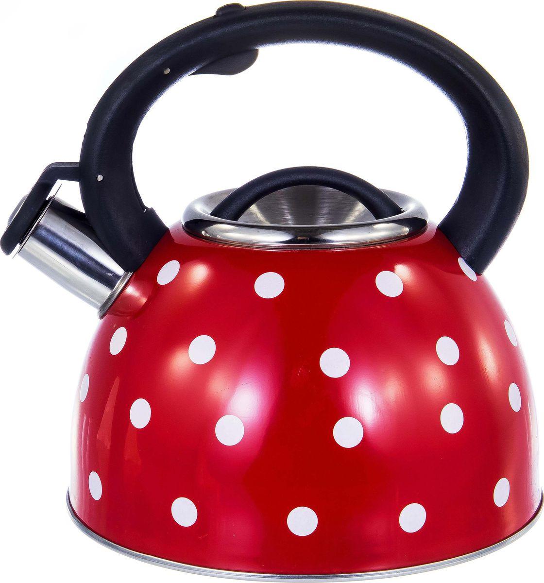 Чайник Guterwahl, 126-18003, красный, со свистком, 2,5 л