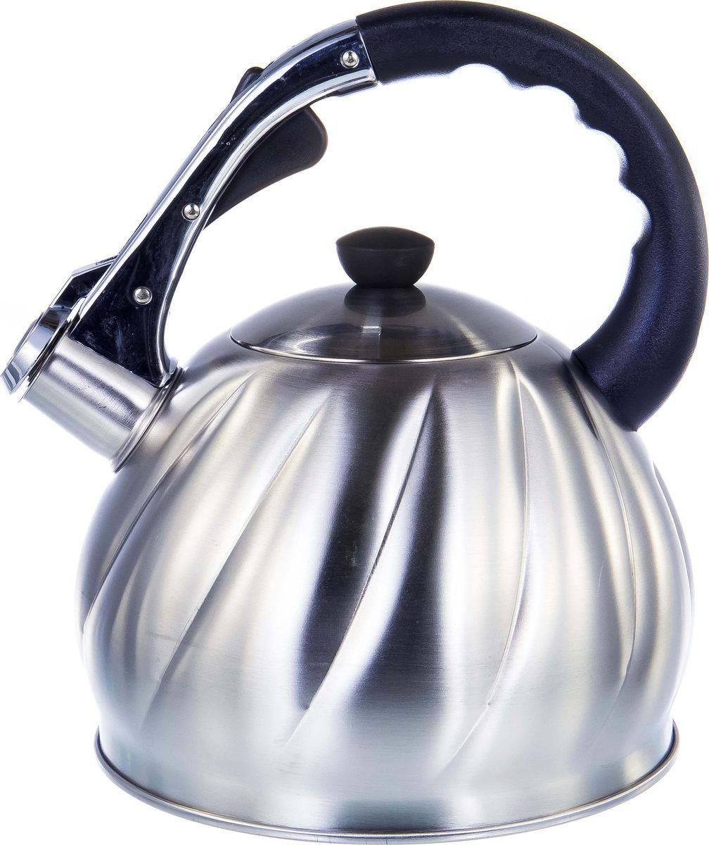 Чайник Guterwahl, 126-18013, стальной, со свистком, 3,5 л
