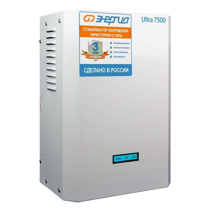 Стабилизатор напряжения Энергия Ultra 7500 стабилизатор напряжения энергия нybrid снвт 3 000 3