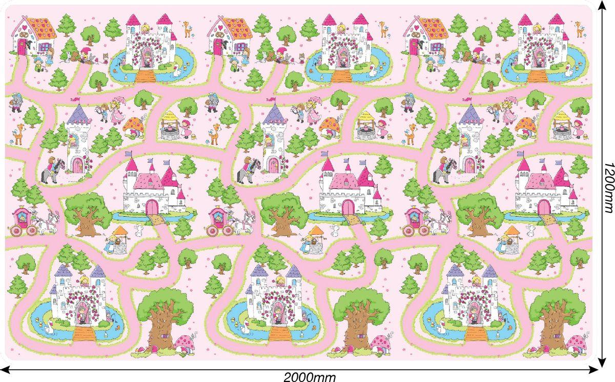 Фото - Игровой коврик ЯиГрушка Замки принцесс, 59844 коврик в рулоне яигрушка сельская жизнь