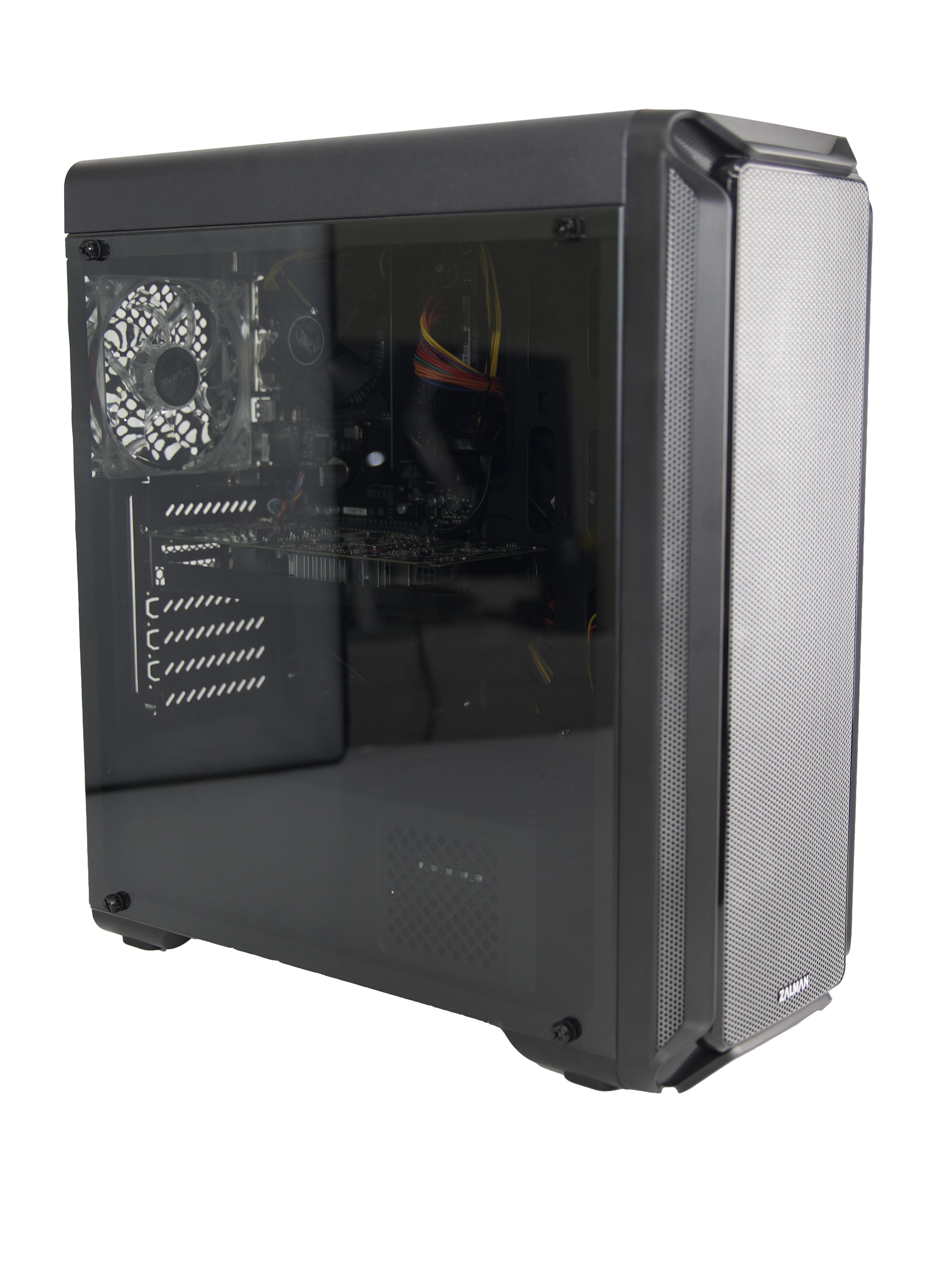 Системный блок Robotcomp Игровой компьютер М-16 2.0, черный компьютер игровой