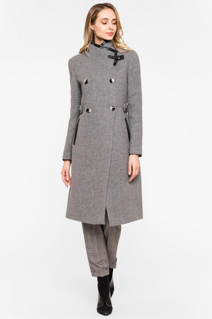 Пальто STYLE NATIONAL тренчкот из шерстяного драпа