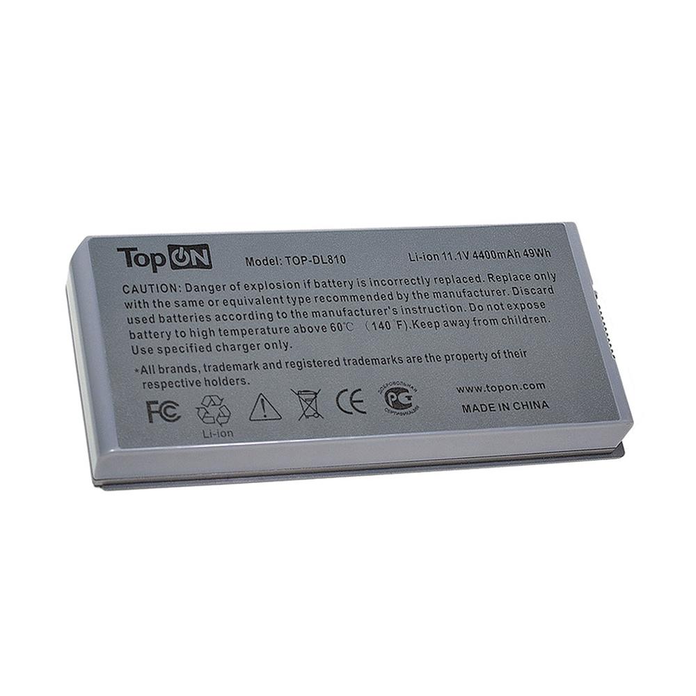 Аккумулятор для ноутбука TopON Dell Latitude D810, Precision M70. 11.1V 4400mAh 49Wh. PN: C5331, F5608. Серый., TOP-DL810 аккумулятор для ноутбука dell latitude d810 precision m70 series 4400мач 11 1v topon top dl810